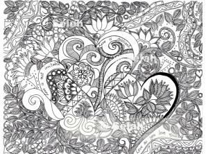 Color-in prints : Love