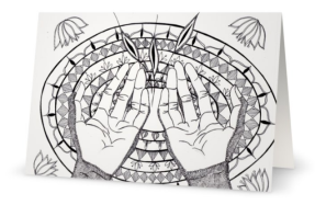 Color-in cards : praying for God's blessings
