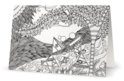 """Color-in cards : Made in God's image. 5""""x7"""" blank cards"""