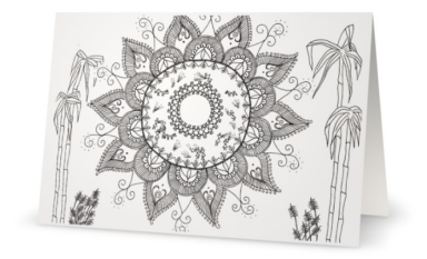 """Color-in Cards :The Lord of the Harvest: 5'x7"""" folded blank cards"""