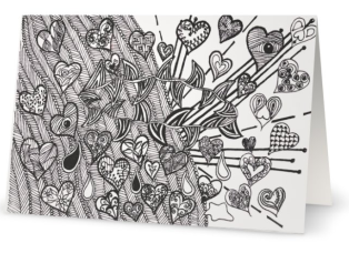 Color-in Cards: All for love
